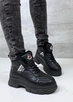 Ботинки женские на меху евро зима