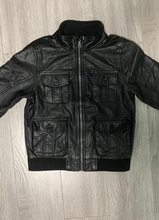 Кожаная куртка m&s, кожанка