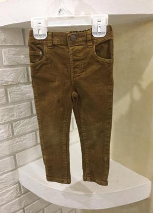 Рыжие джинсы вельветовые 12-18 мес