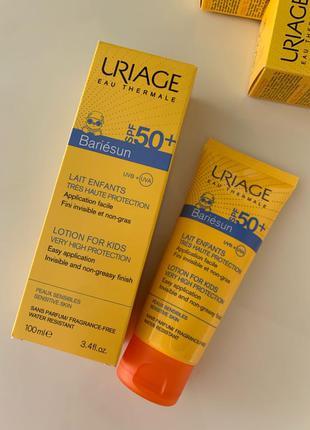 Молочко Uriage spf 50 для детей
