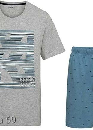Комплект livergy домашний,пижама, шорты и футболка,большой размер