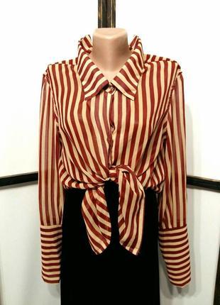 Блуза блузка шифоновая в полоску бренд 36point5