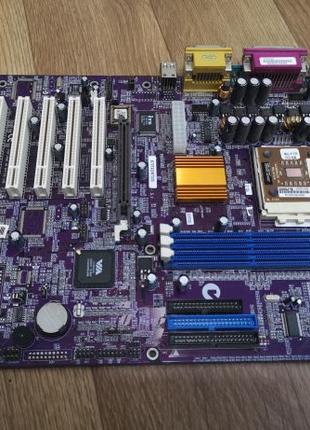 Материнская плата K7VTA3 в комплекте с процессором Athlon 2200+