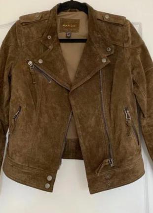 Куртка mango из натуральной замши, xs