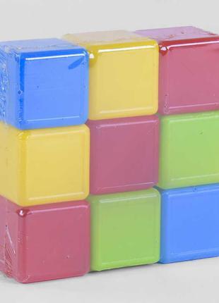 "Гр Кубики цветные 9 шт. 05061 (21) ""M-TOYS"""