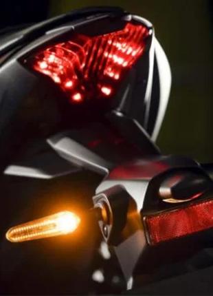 LED указатели поворота, поворотники для мотоцикла, Динамические,