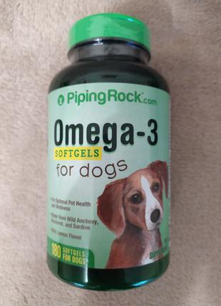 Омега-3 для собак, 180 капсул США.