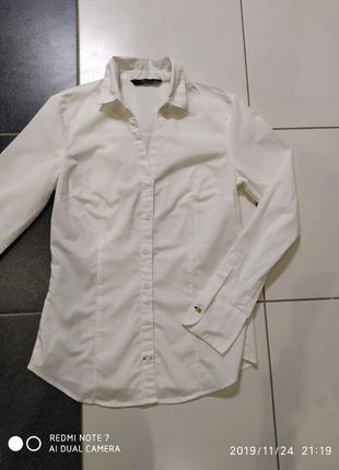 Рубашка женская классическая белая