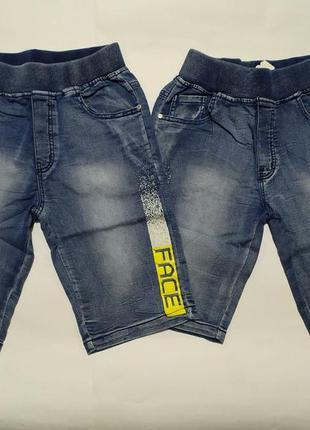 Джинсовые шорты бриджи для мальчика р.134-164