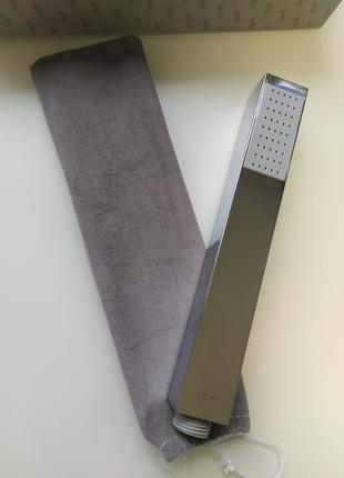 Лейка для душа из пластика прямоугольная хром Q Ручные лейки для