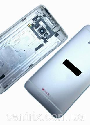 Задняя крышка для HTC 801e One M7, 801n, серебристая
