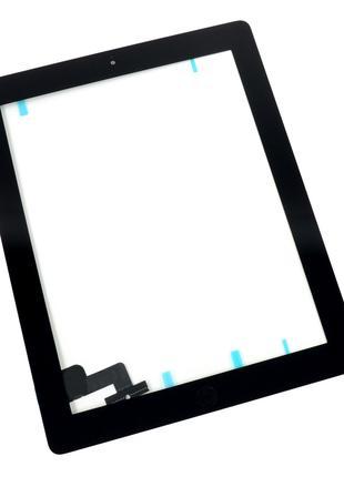 Тачскрин (сенсор) для iPad 2, с кнопкой, цвет черный