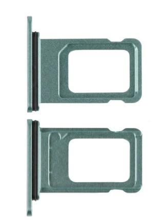 Лоток сим карты для iPhone 11, зеленый, на одну Sim-карту