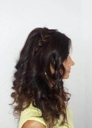 Вечерний макияж+локоны(ниже плеч)