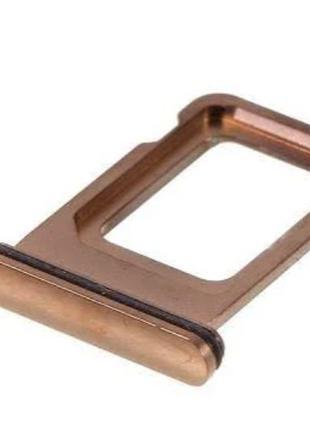 Лоток сим карты для iPhone 11 Pro/11 Pro Max, золотистый, на о...