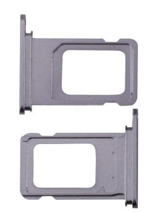 Лоток сим карты для iPhone 11, фиолетовый, на одну Sim-карту