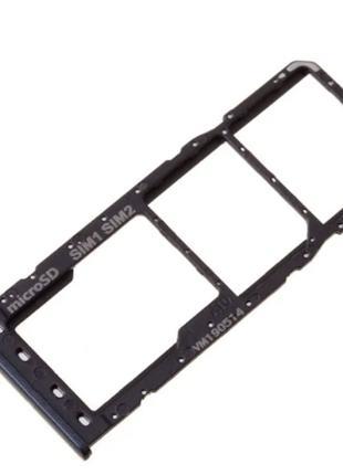 Лоток сим карты для Samsung A107F/DS Galaxy A10s, черный