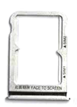 Лоток сим карты для Xiaomi Mi8, белый, на две Sim карты