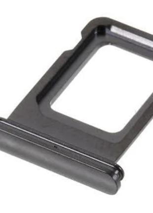 Лоток сим карты для iPhone 11 Pro/11 Pro Max, серый на одну Si...