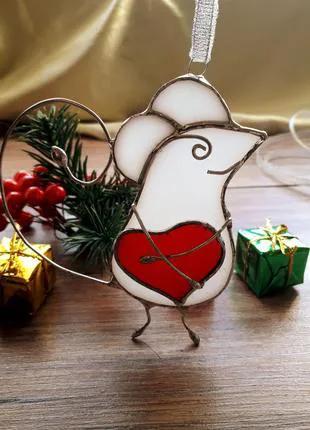 Новогодние Игрушки - Влюблённая Мышка