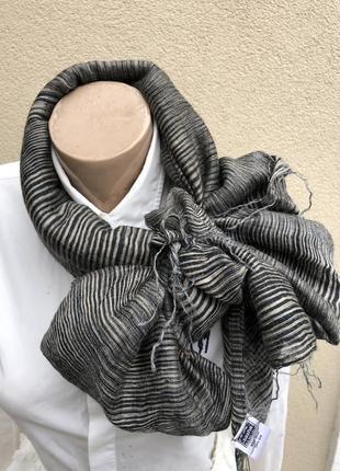 Большой,шарф,палантин с бахромой,шерсть-шелк,sasha,индия,экскл...
