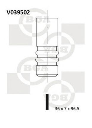 Клапан впускной VW POLO 1.7/1.9SDI;GOLF 1.9SDI AKW/AEY/1Y