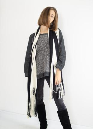& other stories полосатый шерстяной огромный шарф, большой и д...