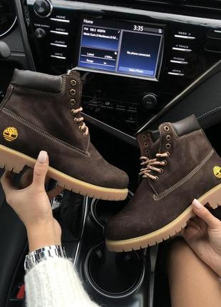 "Шикарные женские ботинки/ сапоги timberland ""brown"" на меху 😍 ..."