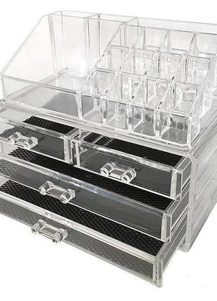 Бокс для хранения косметики dressing case w/4 drawer