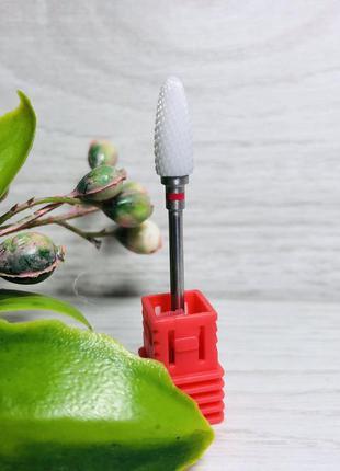 Фреза насадка керамическая для снятия гель-лака, геля, красная