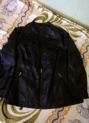 Новая стильная кожаная куртка