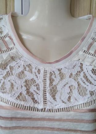 Элегантная футболка романтичная блуза в голографическую полоск...