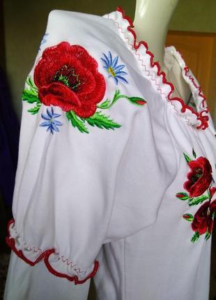 Красивая трикотажная вышиванка сорочка кофта блуза футболка пр...