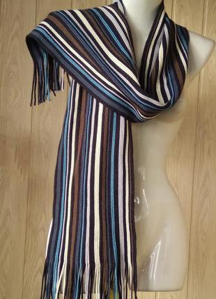 Любимый универсальный шарф в полоску унисекс