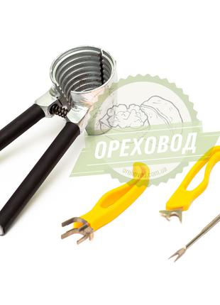 Орехокол Щелкунчик сталь + комплект для чистки ореха
