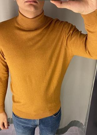 Базовый мужской хлопковый гольф водолазка свитер fishbone есть...