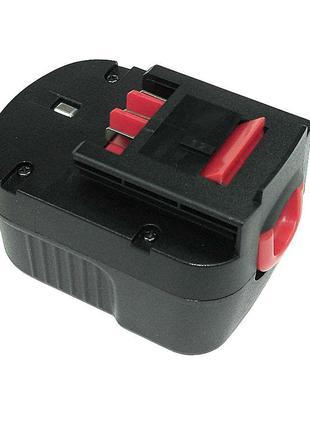 Аккумулятор для шуруповерта Black&Decker; A12 1.5Ah 12V черный