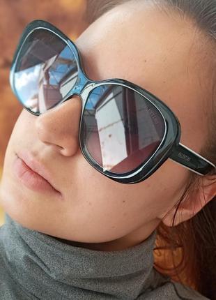 Стильные крупные качественные женские очки италия