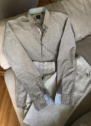 Мужской брендовый дизайнерский летний костюм hugo boss первая ...