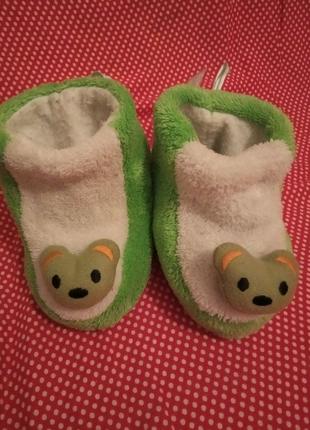 Очень теплые детские тапочки - бурки - чуни