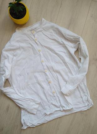 Рубашка белая мужская tumia хлопок мятый