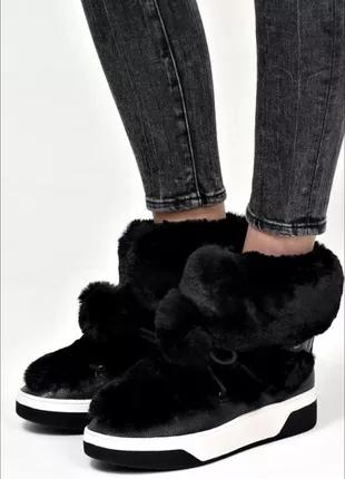 Брендовые зимние ботинки на меху Michael Kors