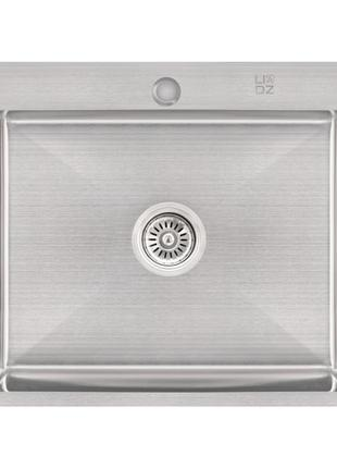 Кухонная мойка Lidz H6050 Brush 3.0/1.0 мм (LIDZH6050BRU3010)