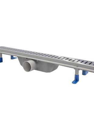 Трап линейный Qtap Dry FA304-600 с нержавеющей решеткой 600х73