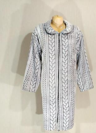 Женский халат на молнии без капюшона
