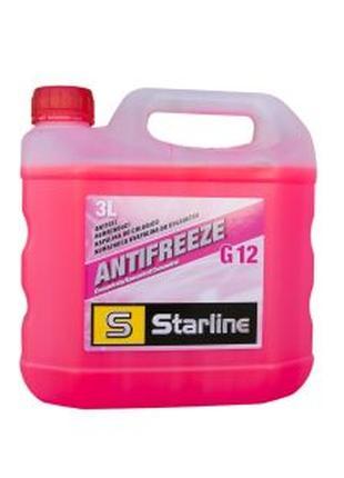Антифриз (концентрат) Starline (Чехія) G12 червоний 3л