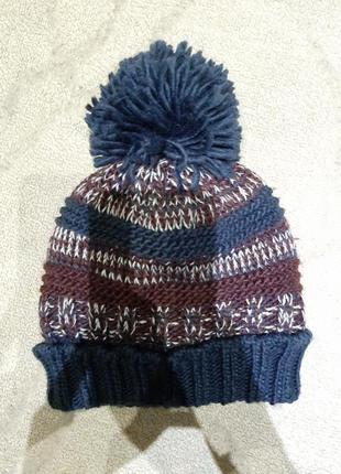 Зимняя шапочка на мальчика 3-4 года