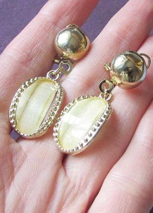 🏵распродажа! красивые серьги с кристаллами белые, новые! арт. ...