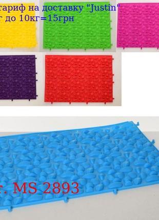 Коврик MS 2893 массажный, 39-28см, 6 цветов