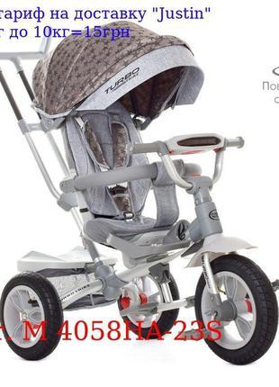 Велосипед M 4058HA-23S три кол, резина (12/10), колясочные, по...